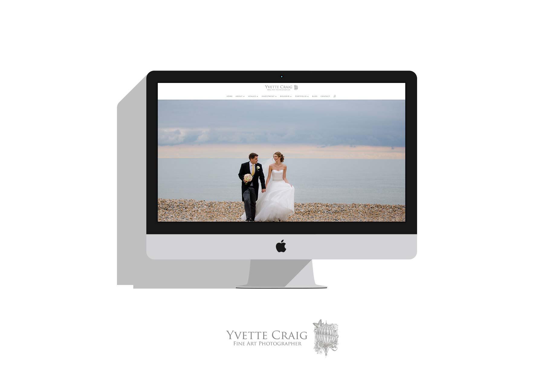 Mockup of Yvette Craig Photographs website