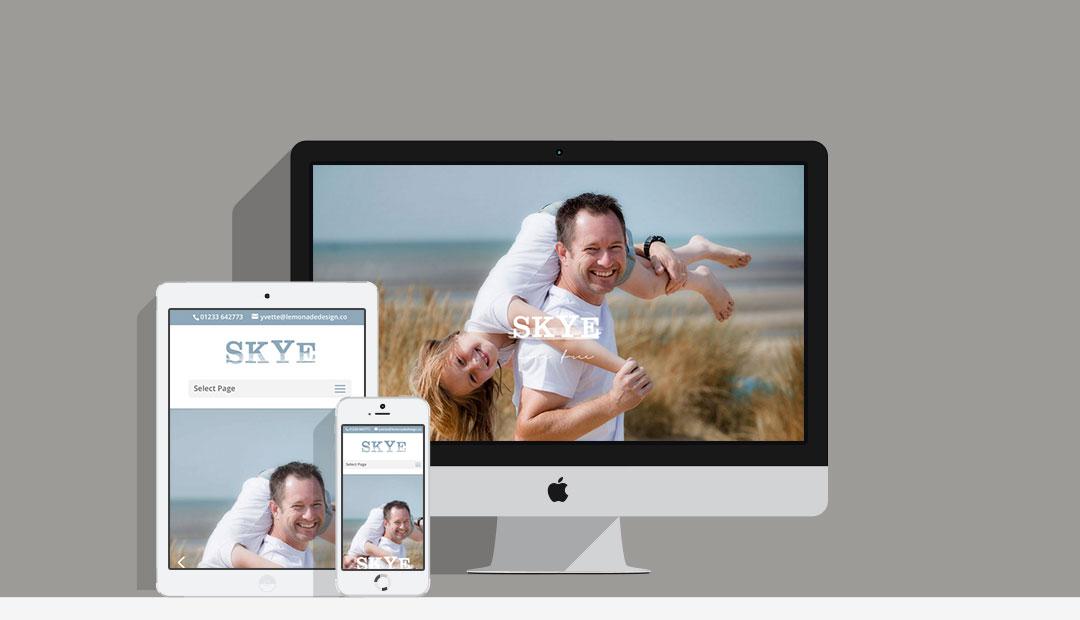 Website mock up of Skye