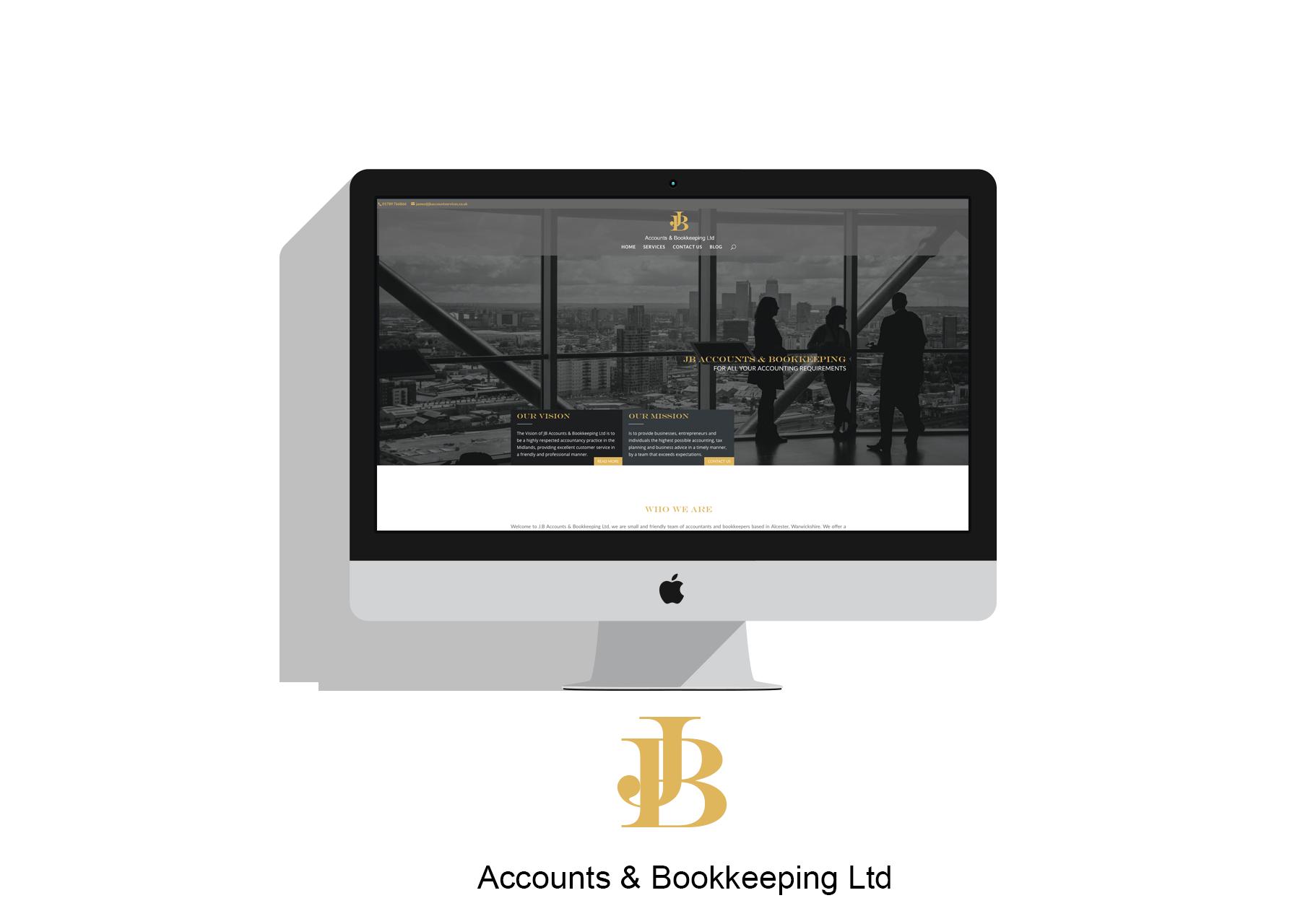 Mock up of JB Accounts & Bookkeeping Ltd