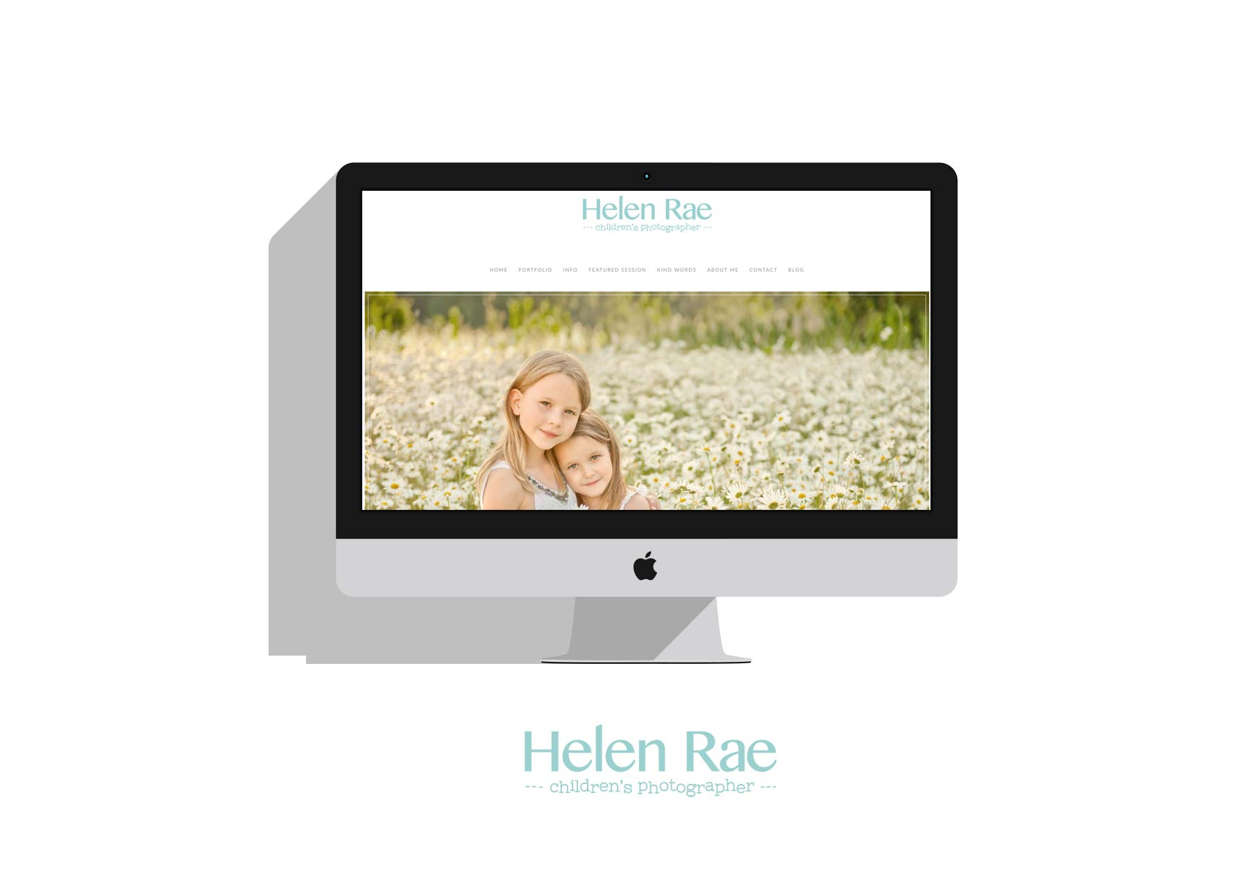 Mock Up of Helen Rae Photography Website