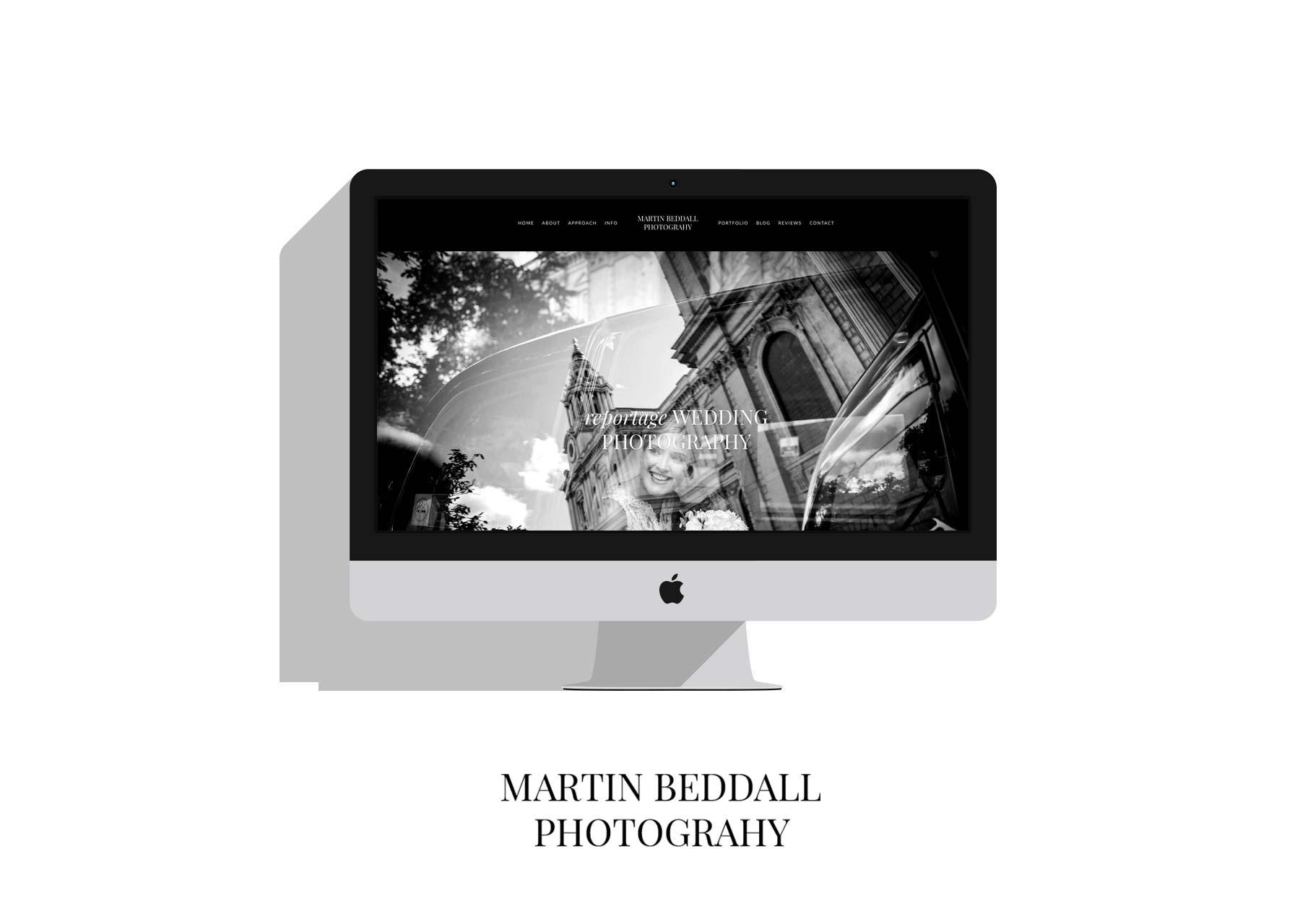 Mock up of MCB Weddings Website