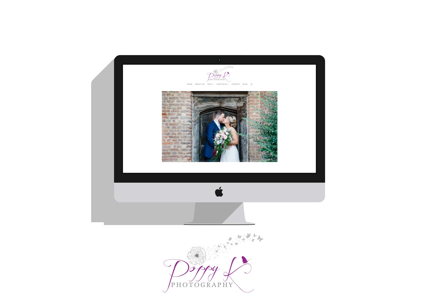 Mockup of Poppy K Photography website
