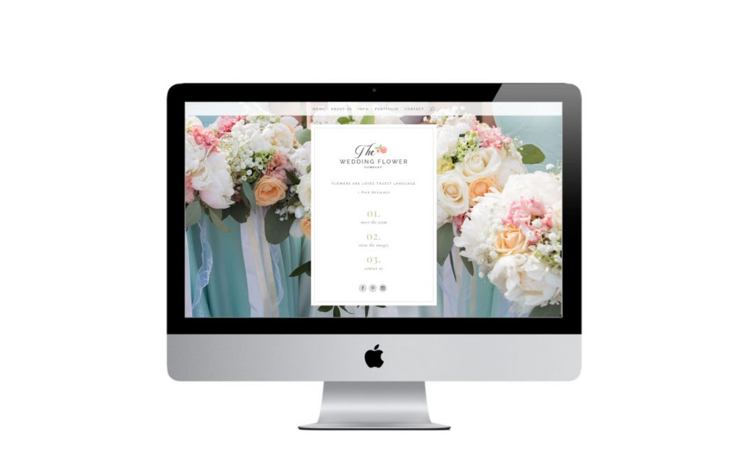 THE WEDDING FLOWER COMPANY | NEW WEBSITE DESIGN AND BRANDING